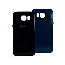 Tapa Trasera Samsung Galaxy S6 Cristal Negro Original Adhesi