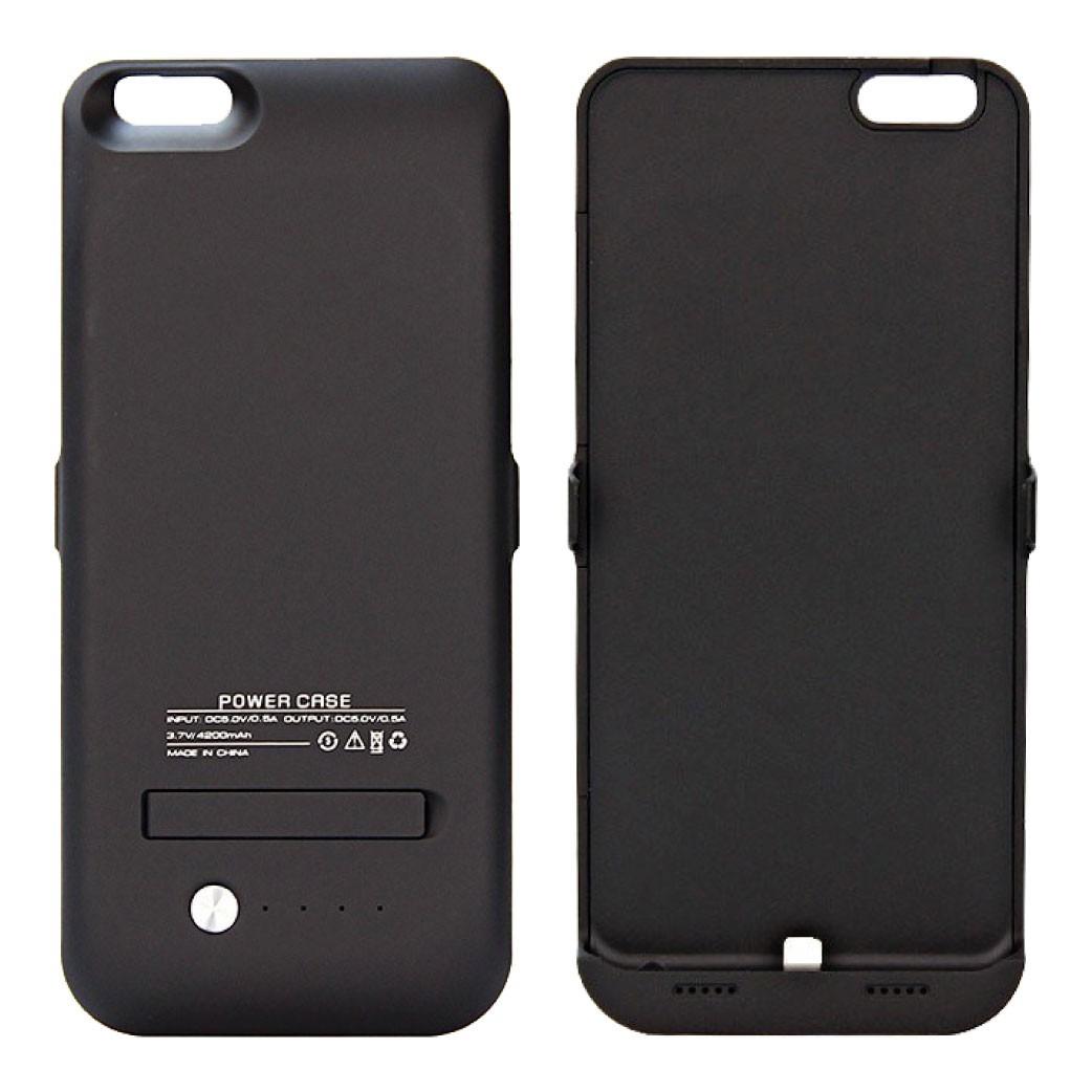 Cargador funda bater a externa iphone 6 plus 4200 mah for Funda bateria iphone