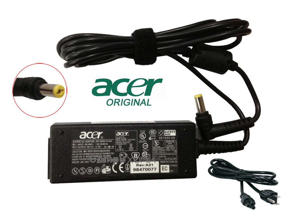 Adaptador Acer 19v 2 15a Aspire One D255 D260 Original Adaptor Charger Laptop 532h D257 722 532 725 Cargador Pav70