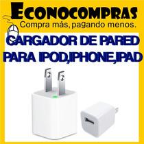 Mini Cargador De Pared Para Iphone Ipod Ipad 100% Nuevo !!