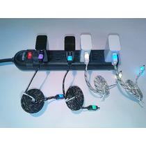 Cargador Para Celular Unuversal V8 Cable Agujeta Y Led 2.0a