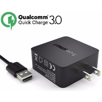 Cargador Ultra Turbo Quick Charge 3.0 Qualcomm Cable Gratis