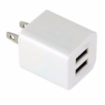 Cargador Dual De Pared Doble Usb 1 Y 2.1 Amperes Carga Rapid