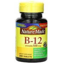 Naturaleza La Vitamina B-12 Hecho 500 Mcg Tabletas 200-conde