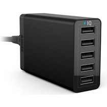 Cargador Usb Anker 40w 5-port Poweriq Ios Y Android - Negro