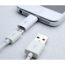 Adaptador Convertidor Usb V8 A Iphone 5 6 Ipad Air Miniipod