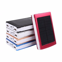 Cargador Solar Power Bank 35000 Mah 16 Luz Led Carga Dual