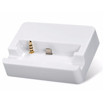Dock Iphone 6 / 6s Base Cargar 8 Pin, 3.5 Mm Auxiliar Blanco