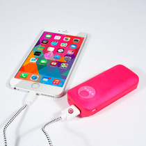 Ebai Q1 Power Bank Cargador Portátil 5600 Mah Rosa Iphone 6