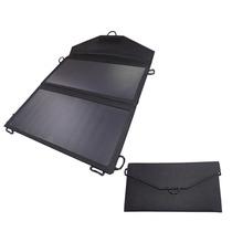 Panel Solar 13w Portátil Usb Cargador Para Celular Negro