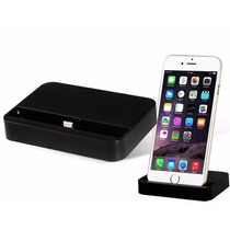Dock Iphone 6 / Iphone 6 Plus (negro) Base Para Cargar 8 Pin