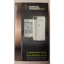 Case Wireless Cargador Duracell Para Iphone 4 Y 4s Blanco