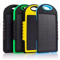 Cargador Power Bank Solar 5000 Mah Resistente Lampara Led