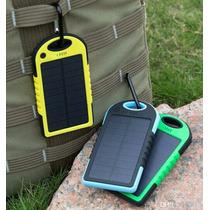 Cargador Solar Con Dos Puertos Usb Resistente Al Agua Caídas