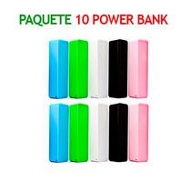 Paquete 10 Power Bank 2600mah Cargador Universal Portatil