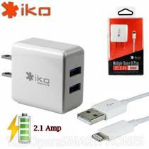 Cargador Ac Lightning 2.1a Marca Iko Iphone Ipad Ipod