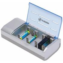 Cargador Inteligente Para Pilas Aa Aaa 9v C D Juguetes Lamp
