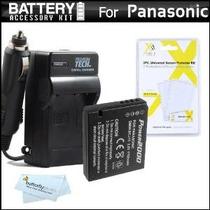 Kit De Batería Y El Cargador Para Panasonic Lumix Dmc-lx7 Dm
