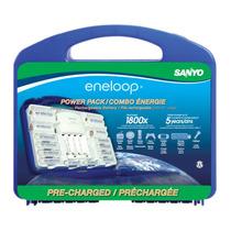 Eneloop Power Pack Cargador Con 10 Baterias 1800c Nuevo Mn4