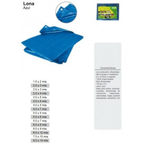 Lona Azul 100% Impermeable Uv Y Gris Uso Rudo Lion Tools