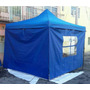 Carpa Toldo Lona 3x3 Retráctil Con Paredes