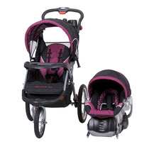 Carriola Portabebe Baby Trend Jogger Elx Rosa Negro