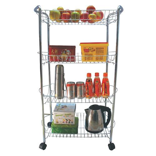 Carrito de cocina con 4 niveles de acero namaro design for Carritos con ruedas para cocina