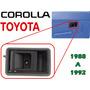 88-92 Toyota Corolla Manija Interior Trasera Izquierda Negro