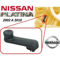 02-10 Nissan Platina Manivela Vidrios Manuales Color Negro