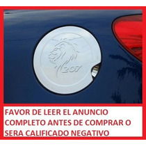 Embellecedor Tapa Gasolina Cromo Para Peugeot 207