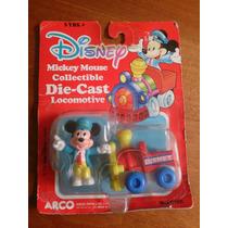 1980´s Mickey Mouse Tren Die-cast Mattel Arcos Toy Nuevo