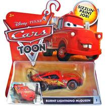Cars Disney Burnt Mcqueen. Toon.