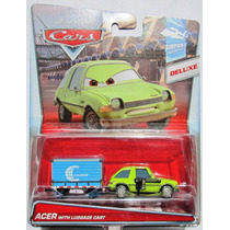 Cars Disney Acer With Luggage Cart. Lo +++ Nuevo !!!