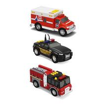 Tonka 3-pack Vehículos - Camión De Bomberos Sheriff Del Cruc