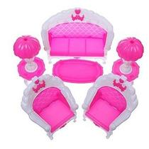 6pcs / Paquete Dollhouse Muebles Sala Parlour Presidente Del