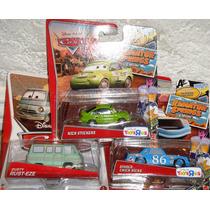 Cars Disney Nick Strickers, Dinoc Chick, Dusty Rust-eze.