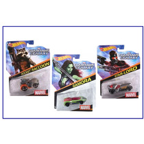 3 Hot Wheels Marvel Colección Guardians Of The Galaxy Rocket