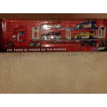 Hot Racing Truck. Trailers Porta Coches De Carrera