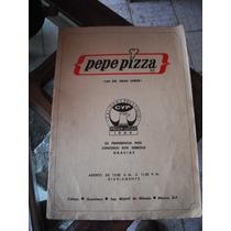 Carta De Menu De Pepe Pizza De 1984 Celaya-queretaro-san Mig