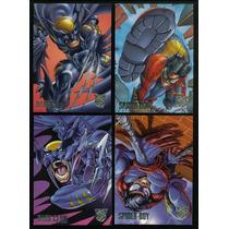 1996 Marvel Amalgam Promo Set De 4 Tarjetas