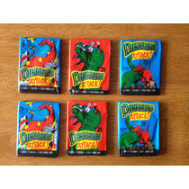 Lote De 6 Sobres Nuevos De Tarjetas De Dinosaurs Attack !!!
