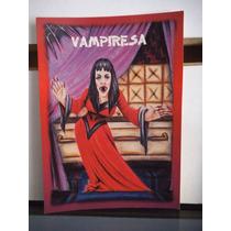 Tarjeta Vampiresa Monstruos Del Bolsillo Vintage