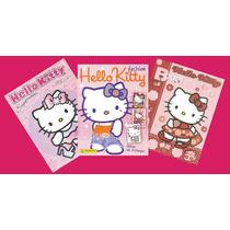 Los 3 Álbumes Panini De Hello Kitty Completamente Llenos