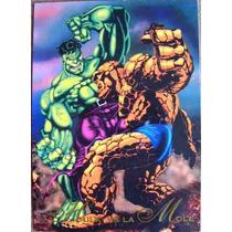 Hulk Vs La Mole / Marvel Comics Pepsi Cards 7 / Tarjetas