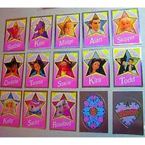 1992 Barbie Y Sus Amigos Set Completo De 15 Stickers