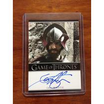Tarjeta Autografiada La Montaña Game Of Thrones Original