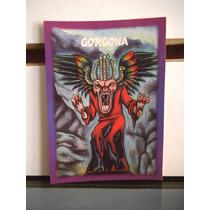 Tarjeta Gorgona Monstruos Del Bolsillo Vintage