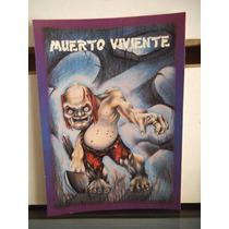 Tarjeta Muerto Viviente Monstruos Del Bolsillo Vintage