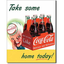Poster Metalico Litografia Lamina Coca Cola Anuncio Retro