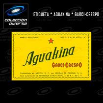 Etiquetas Antiguas De Refresco Garci-crespo L1